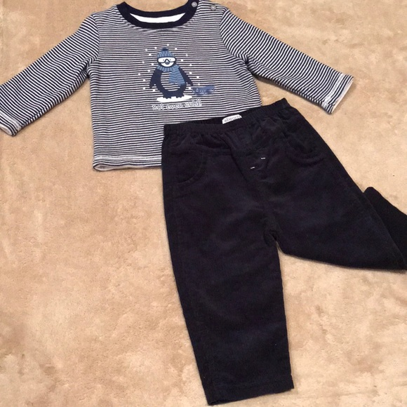 Absorba Other - Absorba paris long sleeve set for baby boy